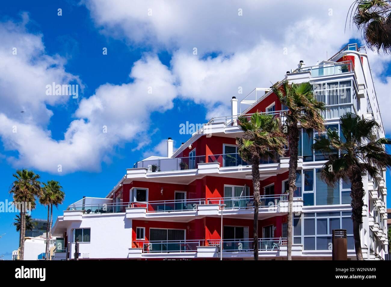 Des appartements modernes à Las Palmas, Gran Canaria. Banque D'Images