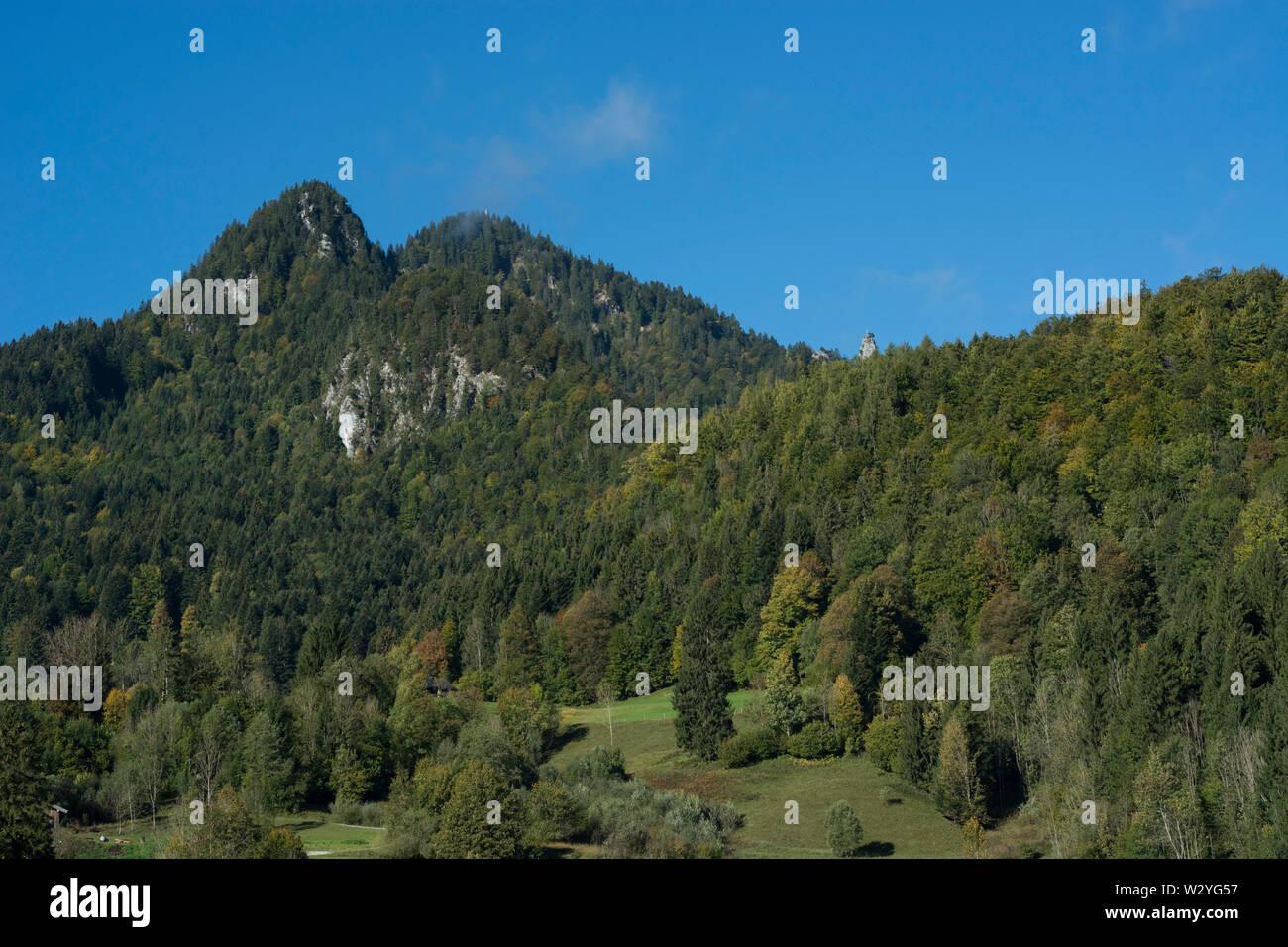 Région brauneck, lenggries, brauneck, benediktenwand, isarwinkel, région de la Haute-Bavière, Alpes bavaroises, la Bavière, la vallée de l'Isar, Allemagne Banque D'Images