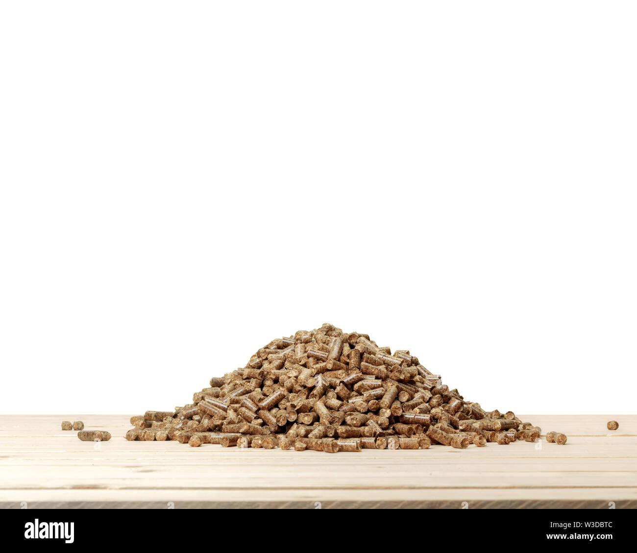 granulés de bois Photo Stock