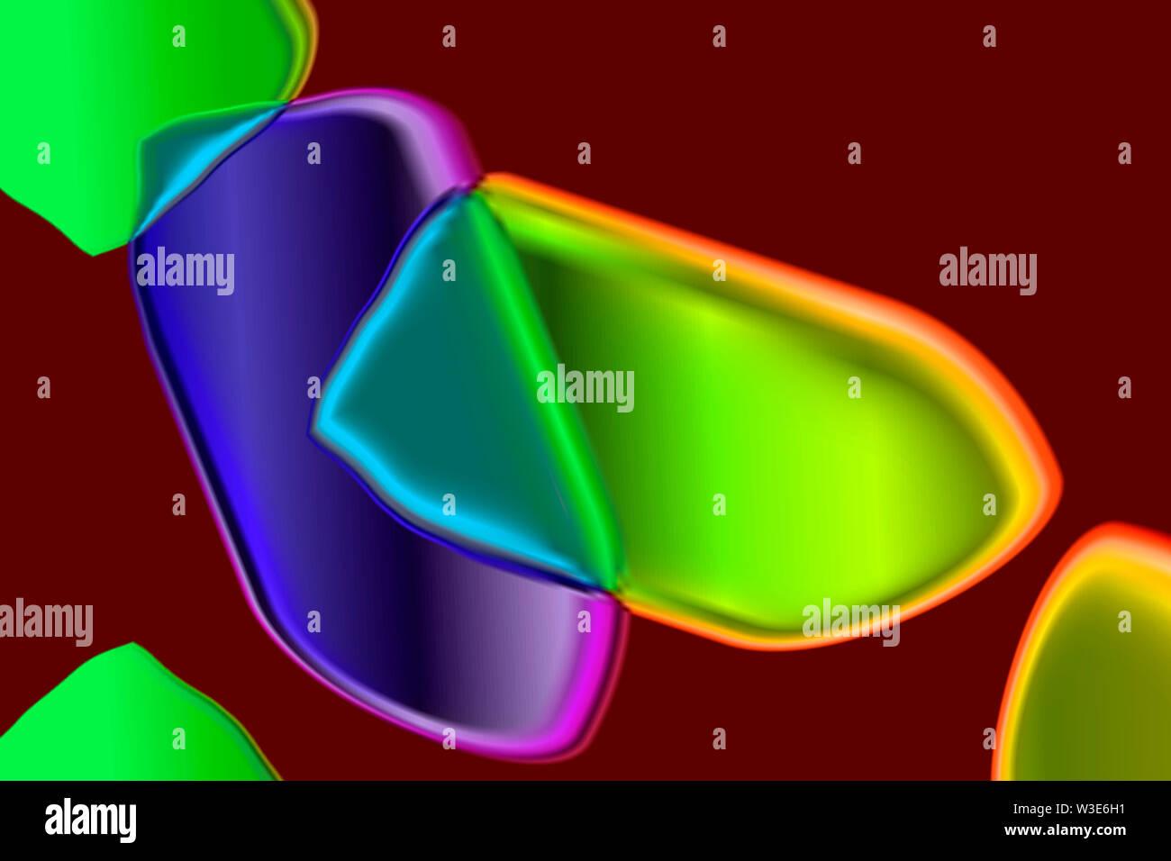 Une illustration de l'interaction des cellules montrant comment l'un affecte l'autre Photo Stock
