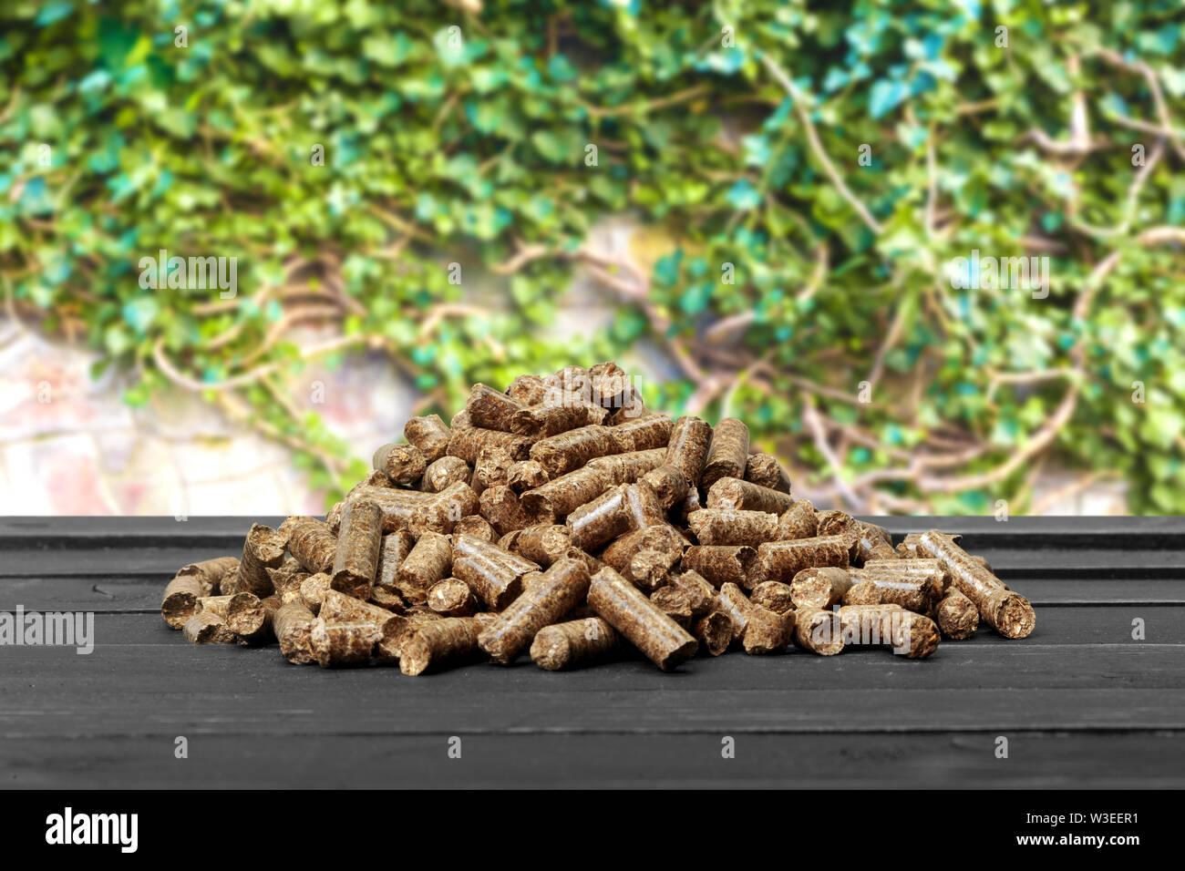 Pellet sur la table Photo Stock
