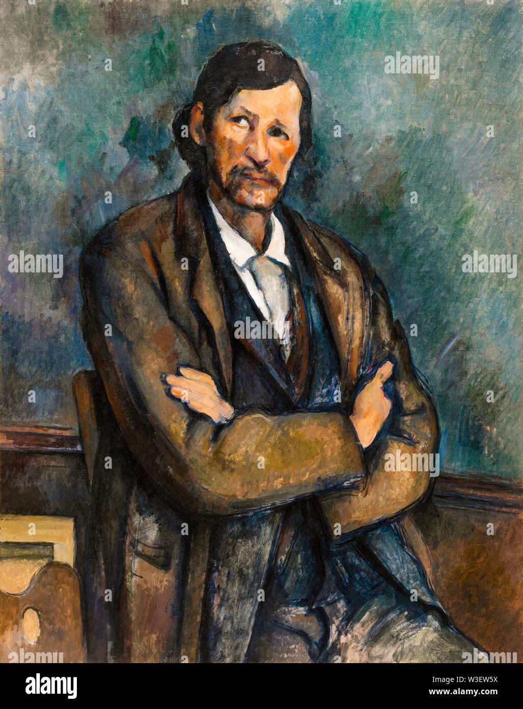 Paul Cézanne, l'Homme les bras croisés, portrait, vers 1899 Banque D'Images