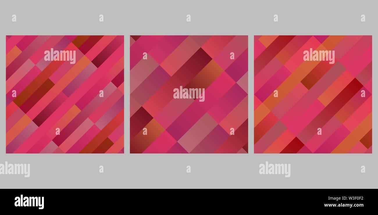 Motif hachuré Gradient background abstract vector set - dessins de rectangles en diagonale Photo Stock