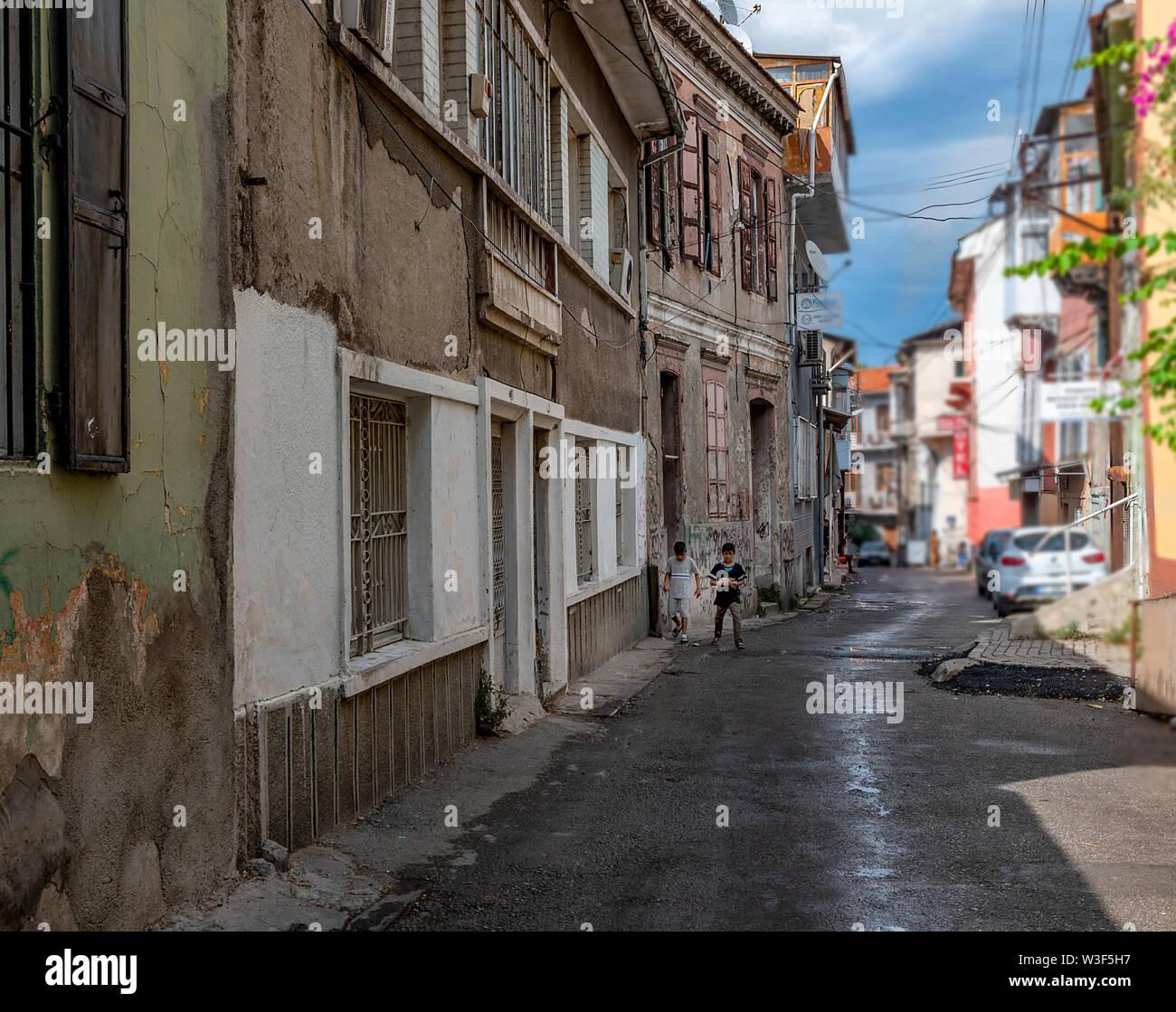 Nous avons photographié différents vit à Izmir quand nous sommes allés à Kadifekale Photo Stock