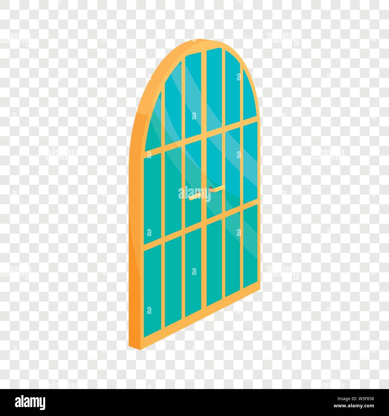 Porte du jardin, l'icône de style cartoon Photo Stock