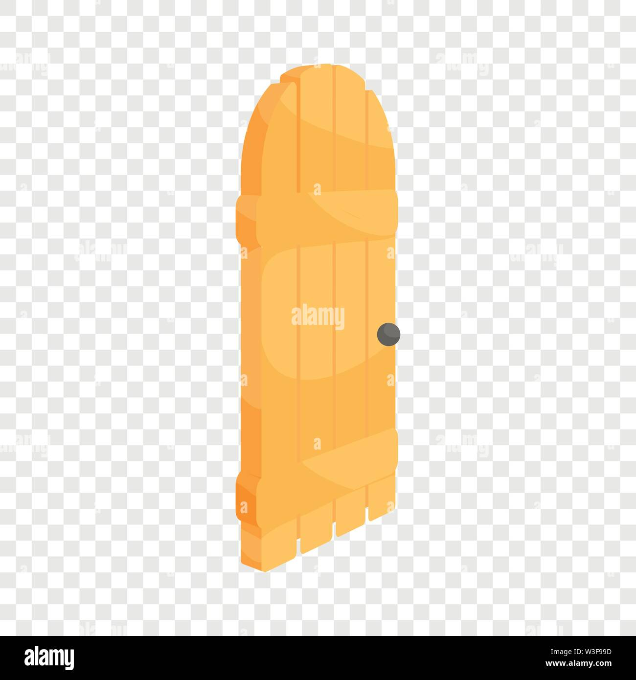 Porte en bois, l'icône de style cartoon Photo Stock