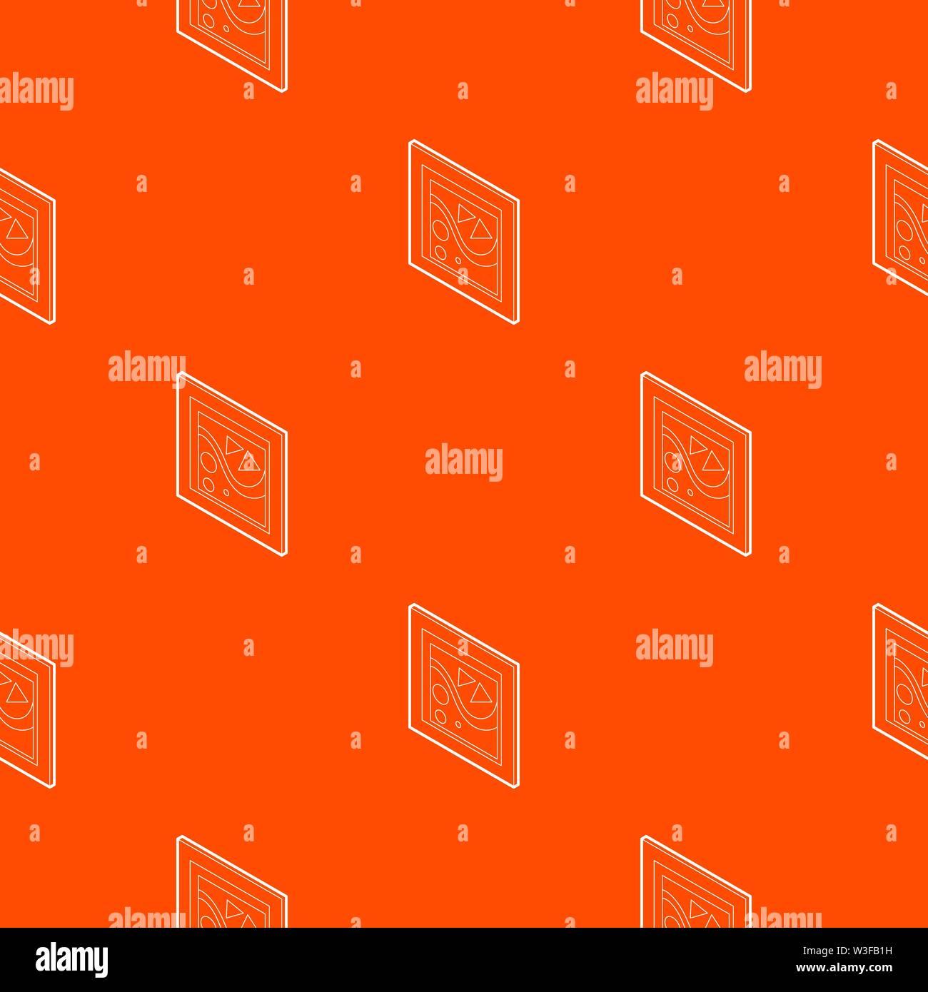 Photo dans un frame pattern vector orange Photo Stock