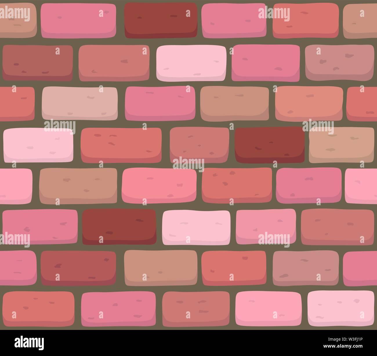 Mur de brique rouge fond illustration vectoriel continu - texture pattern pour reproduire en continu. Photo Stock