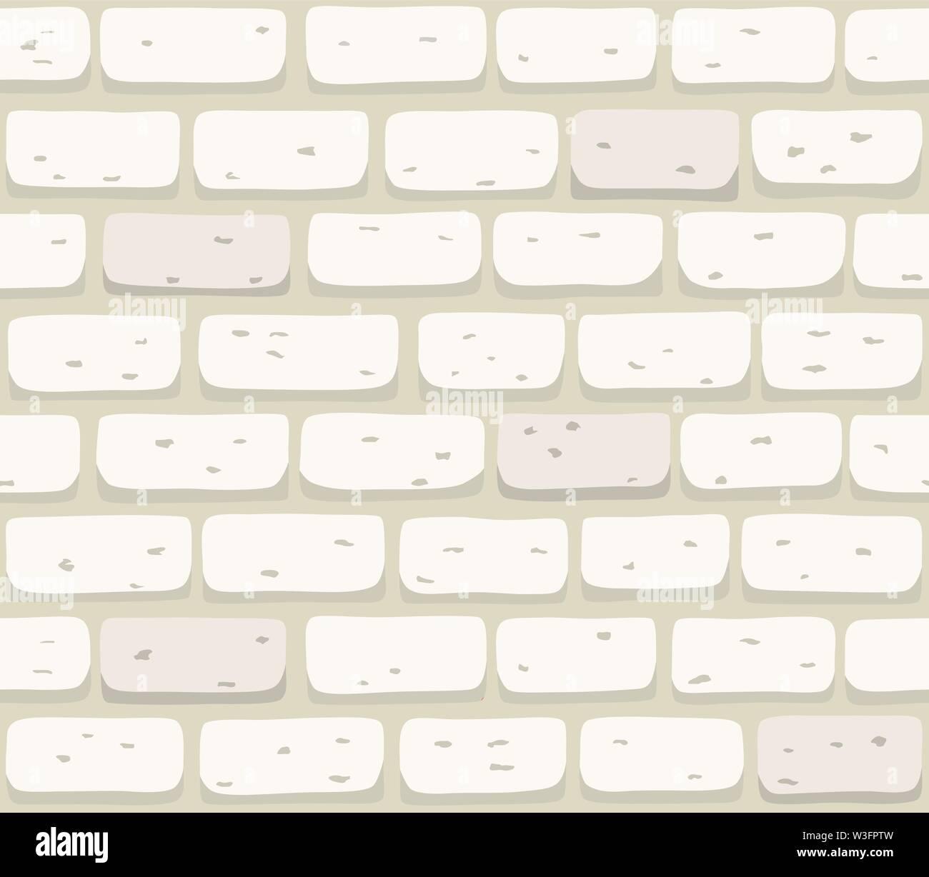 Mur en brique blanche transparente texture vector illustration Photo Stock