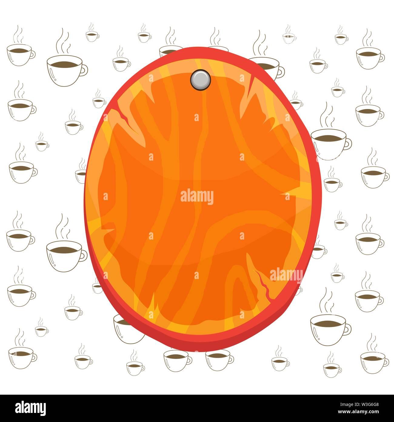 Planche en bois ovale arrondi en forme de cercle conseil épinglé bois cloué background Design business concept Empty copier du texte pour le Web promotion bannières materi Photo Stock