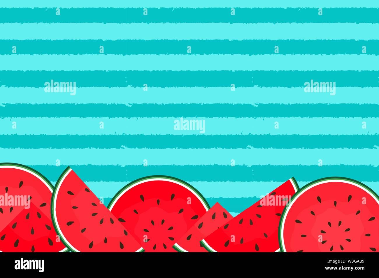 Résumé Contexte L'été avec la pastèque. Vector Illustration Photo Stock