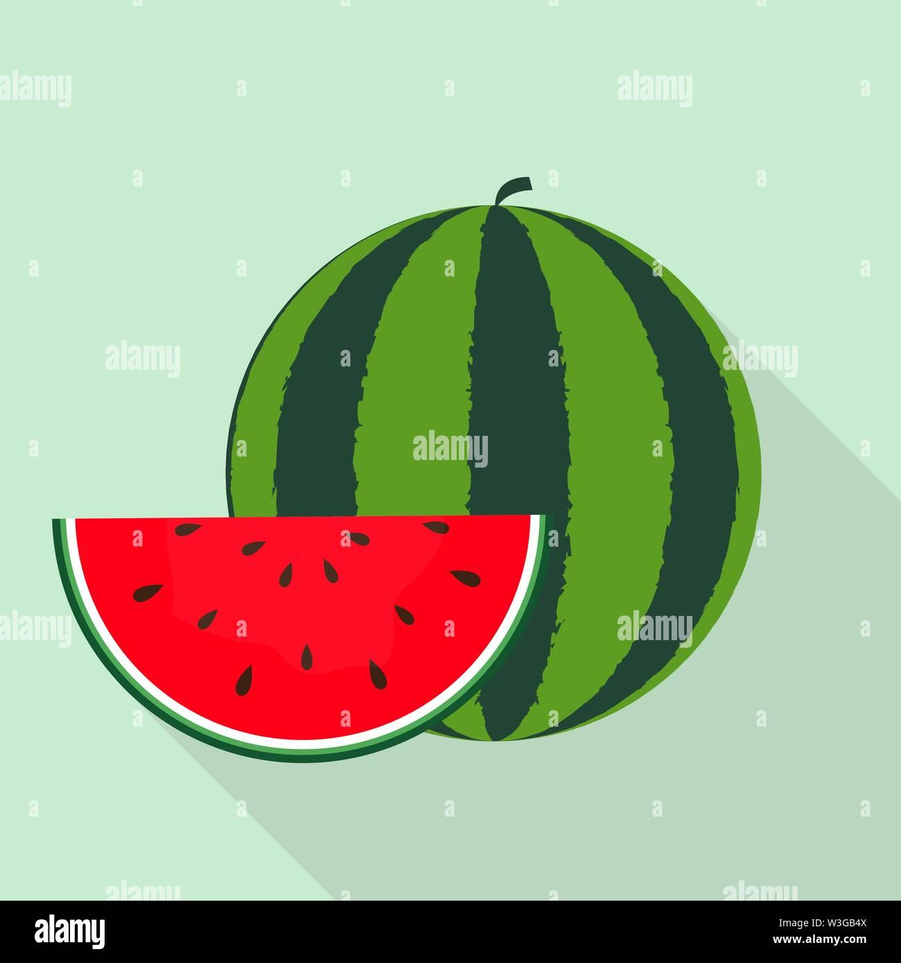 L'icône de la pastèque. Vector Illustration Photo Stock