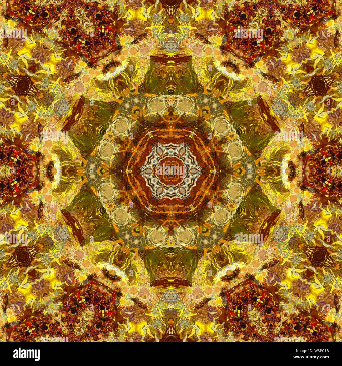 L'imitation de l'or liquide design pattern. Golden color abstract art fractal Creative contexte en Asie de l'Est ou de style arabe. Papier peint de luxe. Wal Photo Stock