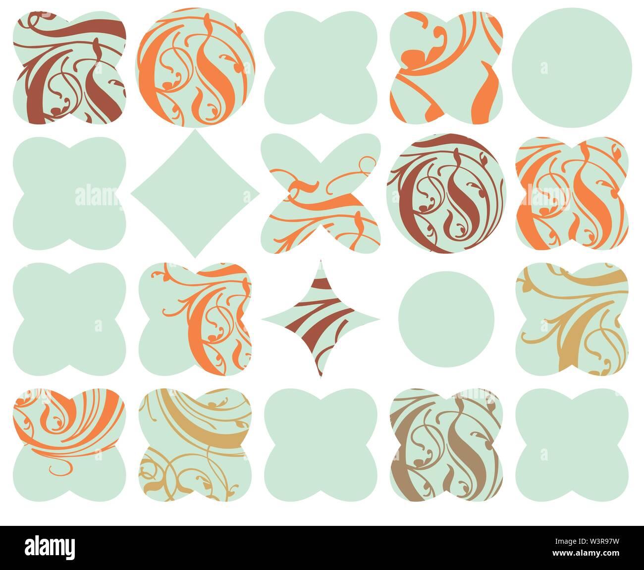 Répéter géométriques abstraites rétro motif de fond d'impression Photo Stock