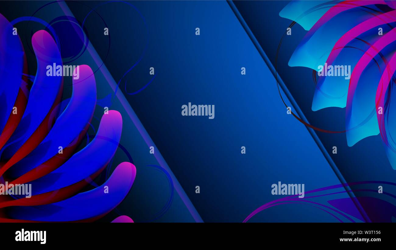 Abstract vector background neon pétales. Vector illustration. Photo Stock