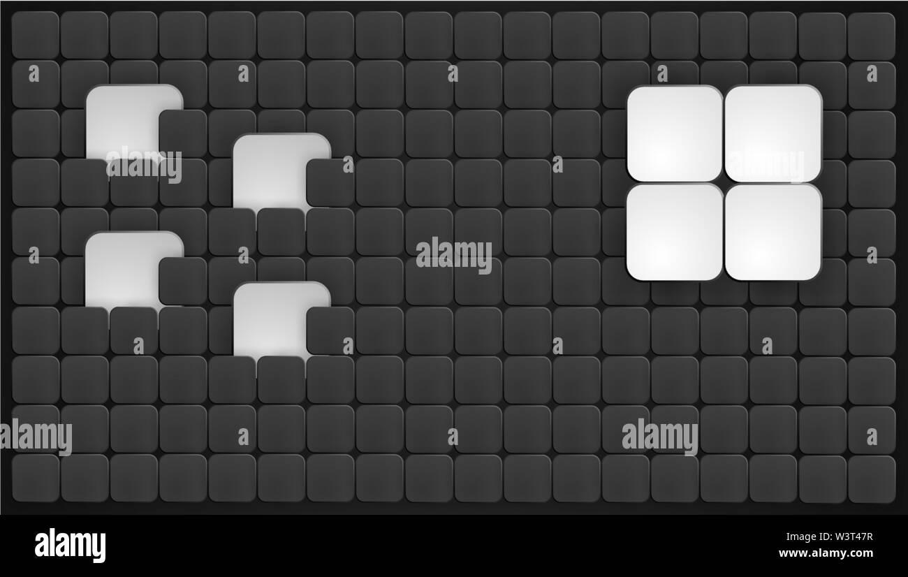Abstract Vector Background avec des carrés. Vector illustration. Photo Stock