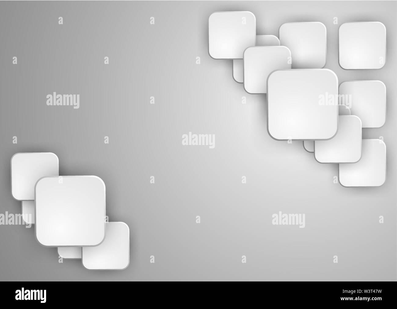 Forme géométrique abstraite de cubes gris. Vector illustration Photo Stock