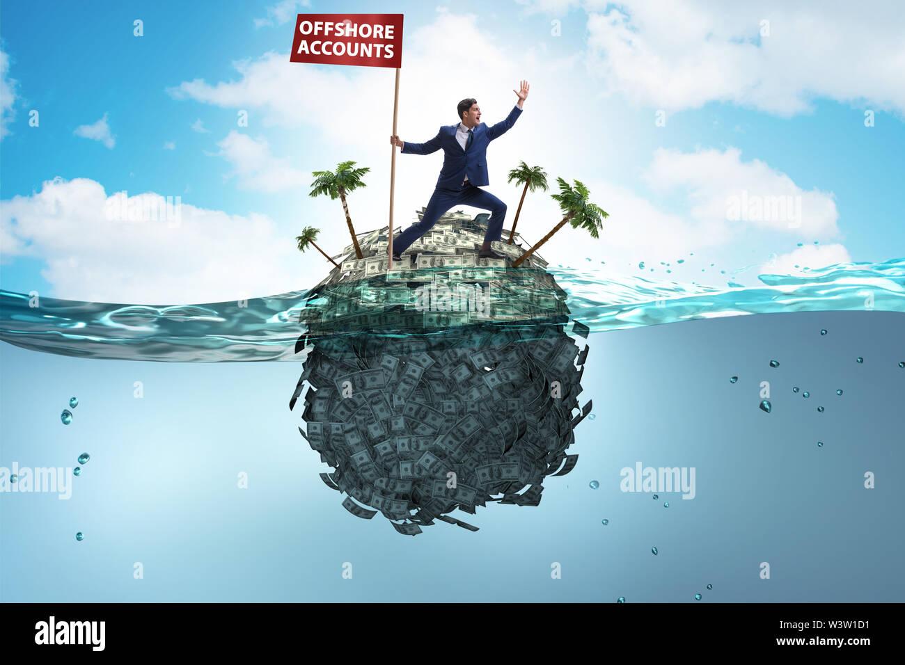 Le concept d'affaires avec des comptes à l'étranger Photo Stock
