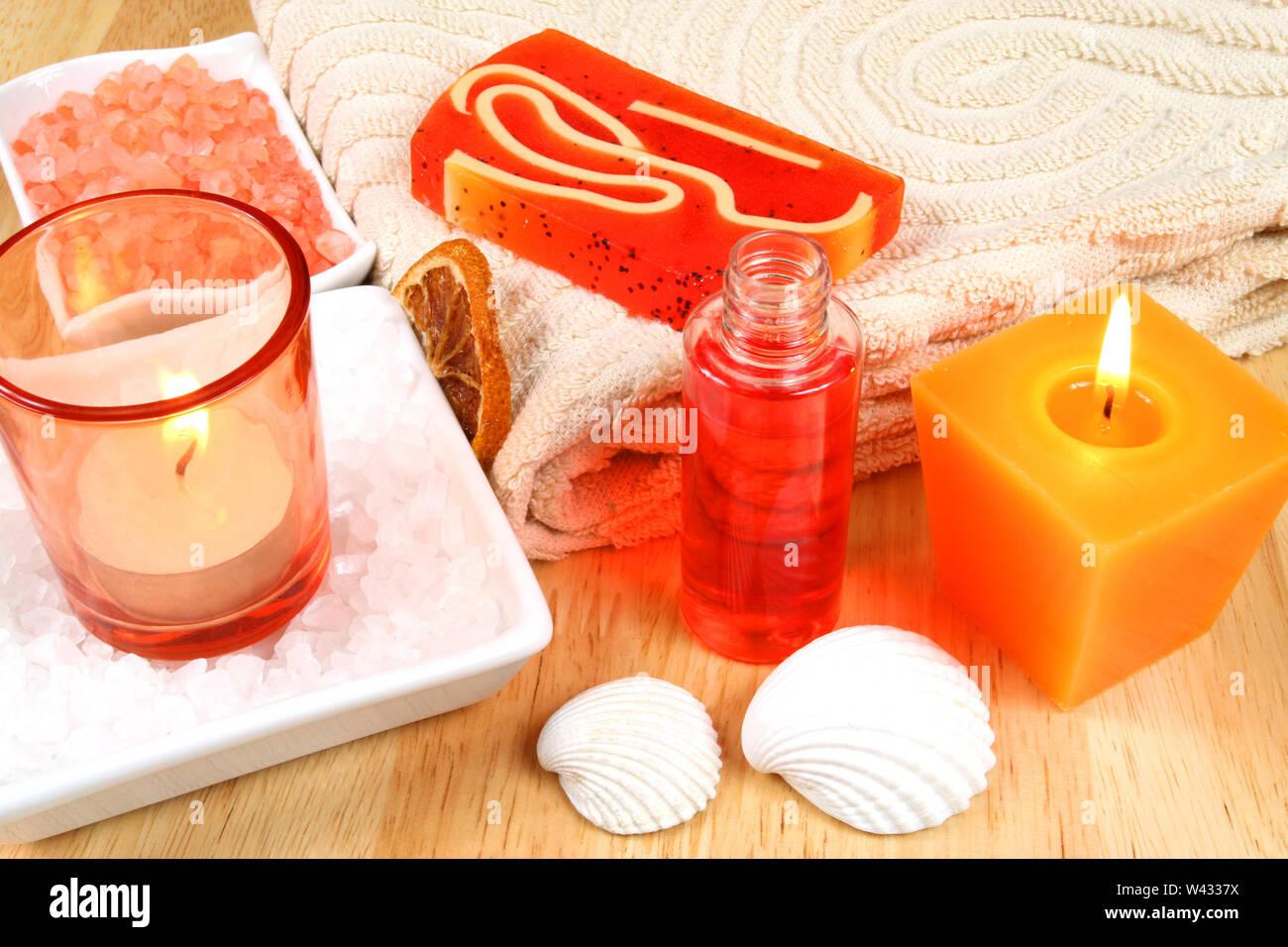 Thérapie Orange Spa resort Photo Stock