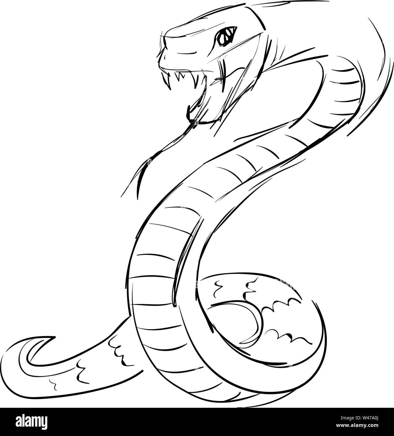 Dessin De Serpent Banque D Image Et Photos Alamy