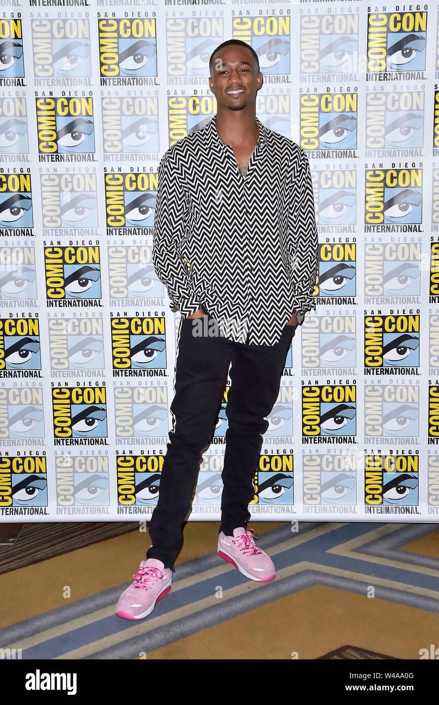 Jessie T. Usher au Photocall pour l'Amazone Video TV série 'Les garçons' au San Diego Comic-Con 2019 International à l'hôtel Hilton Bayfront Hotel. San Diego, 19.07.2019   Le monde d'utilisation Banque D'Images