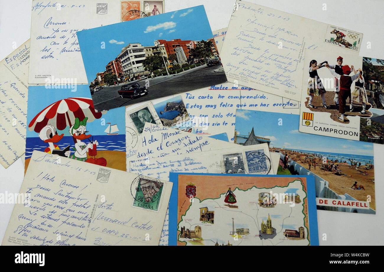 Beaucoup de cartes postales Banque D'Images