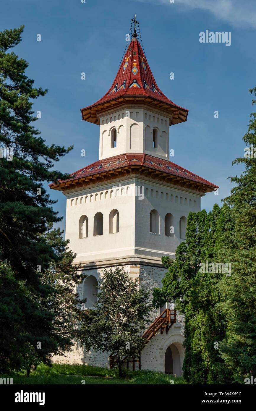 Clocher de Saint Jean le Nouveau Monastère, Suceava, Roumanie Banque D'Images