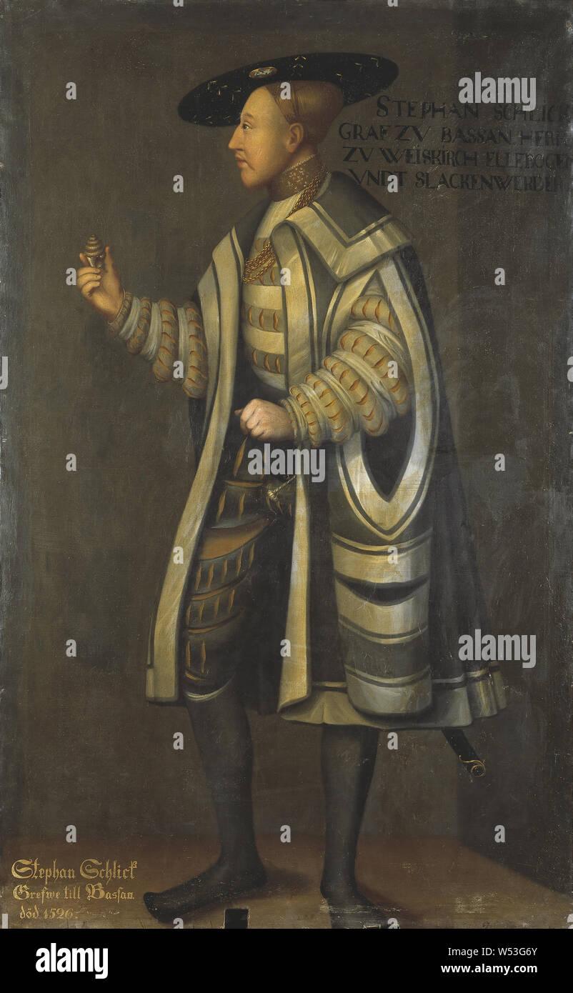 Attribué à David Frumerie, Stefan Schlick, peinture, Stephan Schlick, huile sur toile, hauteur, 197 cm (77,5 po), largeur, 118 cm (46,4 pouces) Banque D'Images