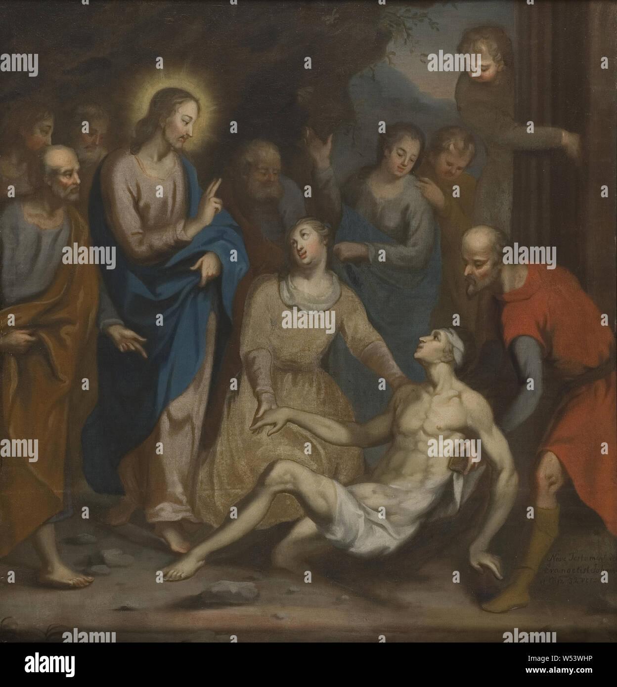Renaissance Lazari, peinture, art religieux, d'huile, de hauteur, 111 cm (43,7 po), largeur, 105 cm (41,3 pouces) Banque D'Images