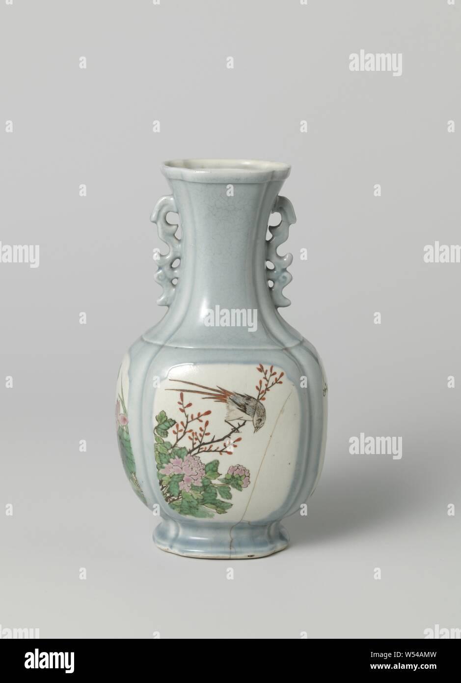 Color : Blanc Rishx T/ête Humaine Forme Vase en c/éramique Ronde Trou Florale Accueil Salon d/écoration Design Mariage Blanc Noir Vase de Fleurs