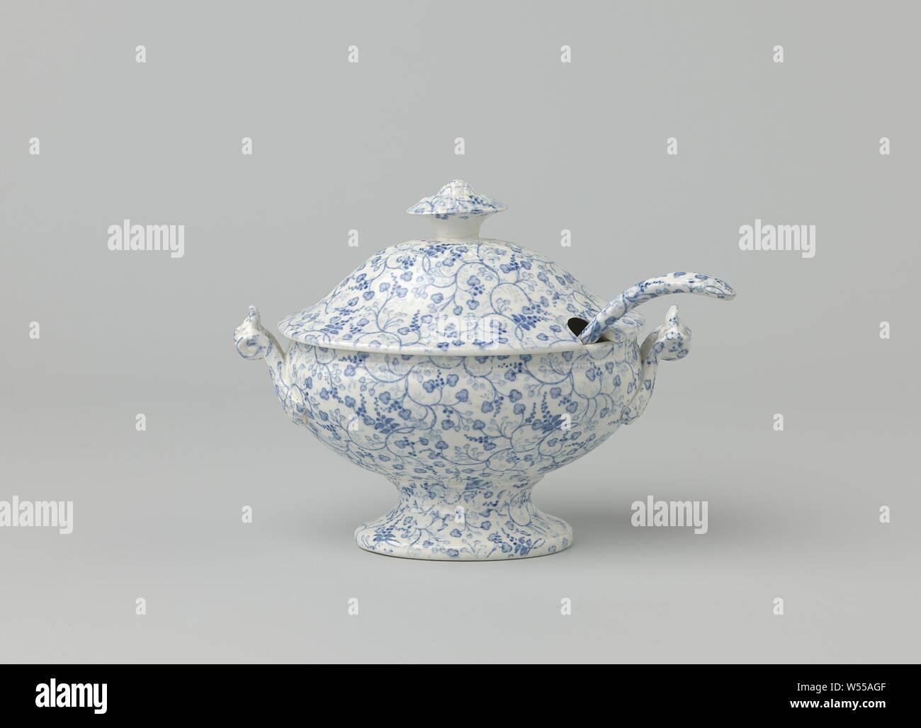 3 L bol de soupe avec couvercle en porcelaine Terrine soupière Vase Bol