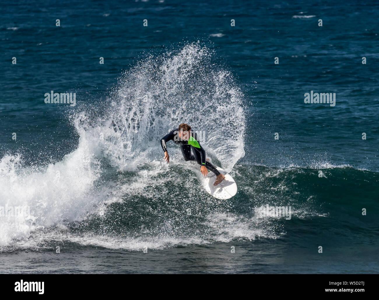 Conseil court Surf, Playa de las Americas Banque D'Images
