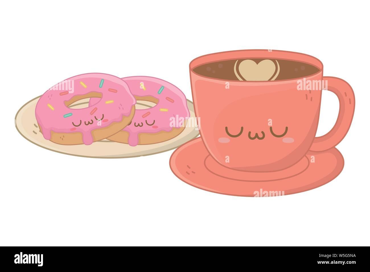 Tasse à Café Design Dessin Animé Kawaii Mignon Petit