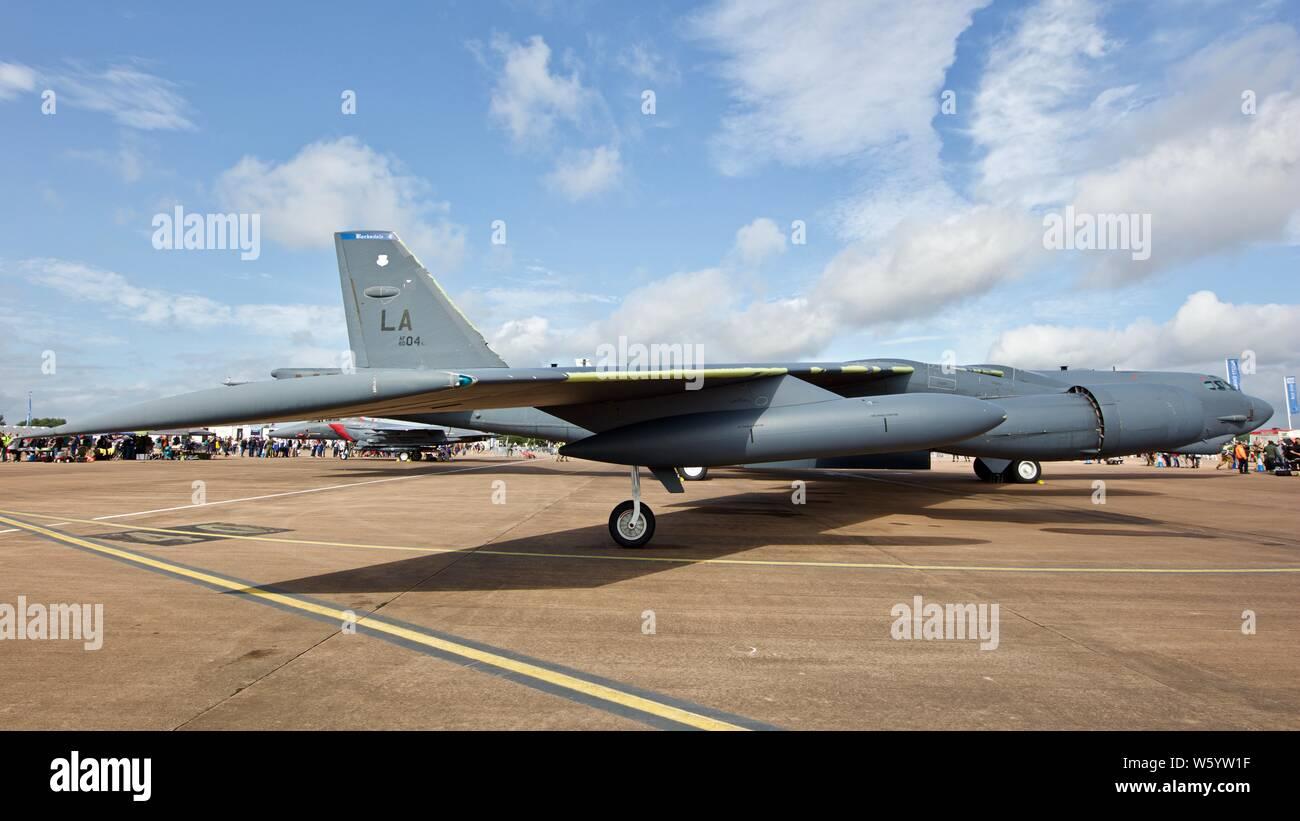 Boeing B-52 Stratofortress en exposition statique au Royal International Air Tattoo 2019 Banque D'Images