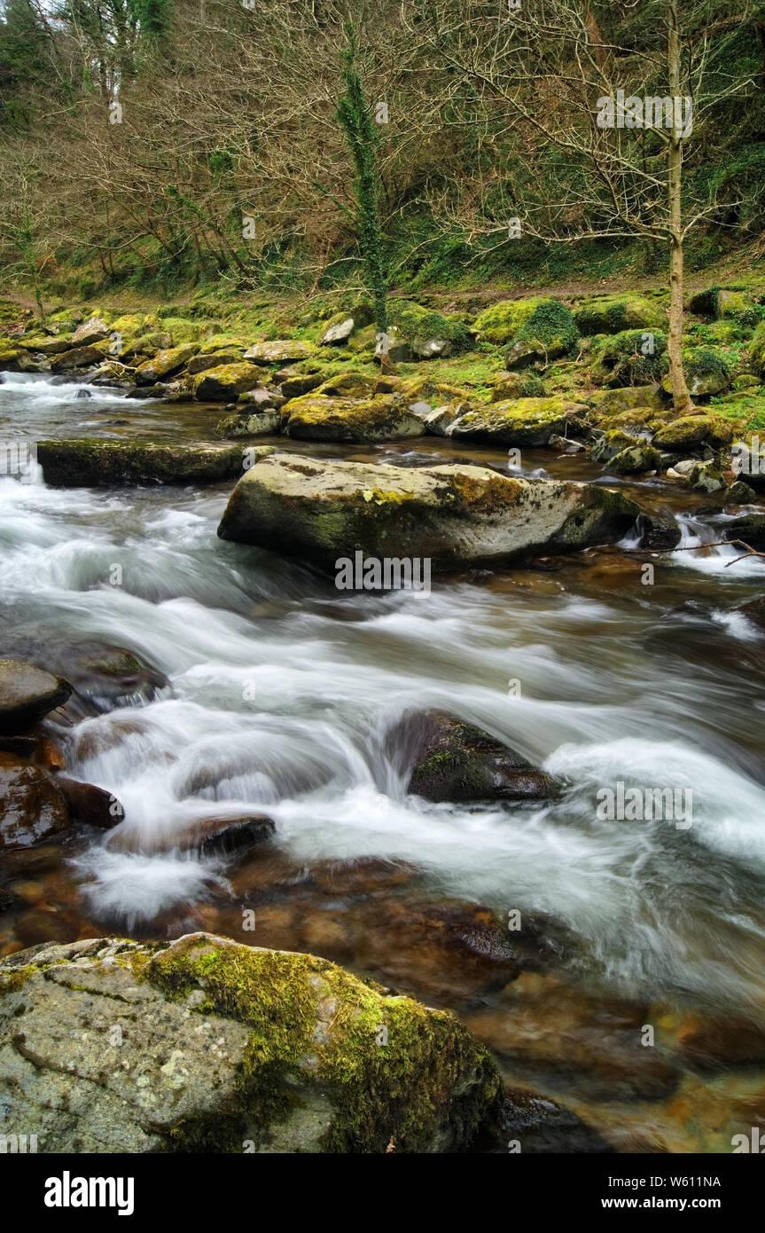 UK,North Devon,,East Lyn Chutes d'Exmoor Banque D'Images