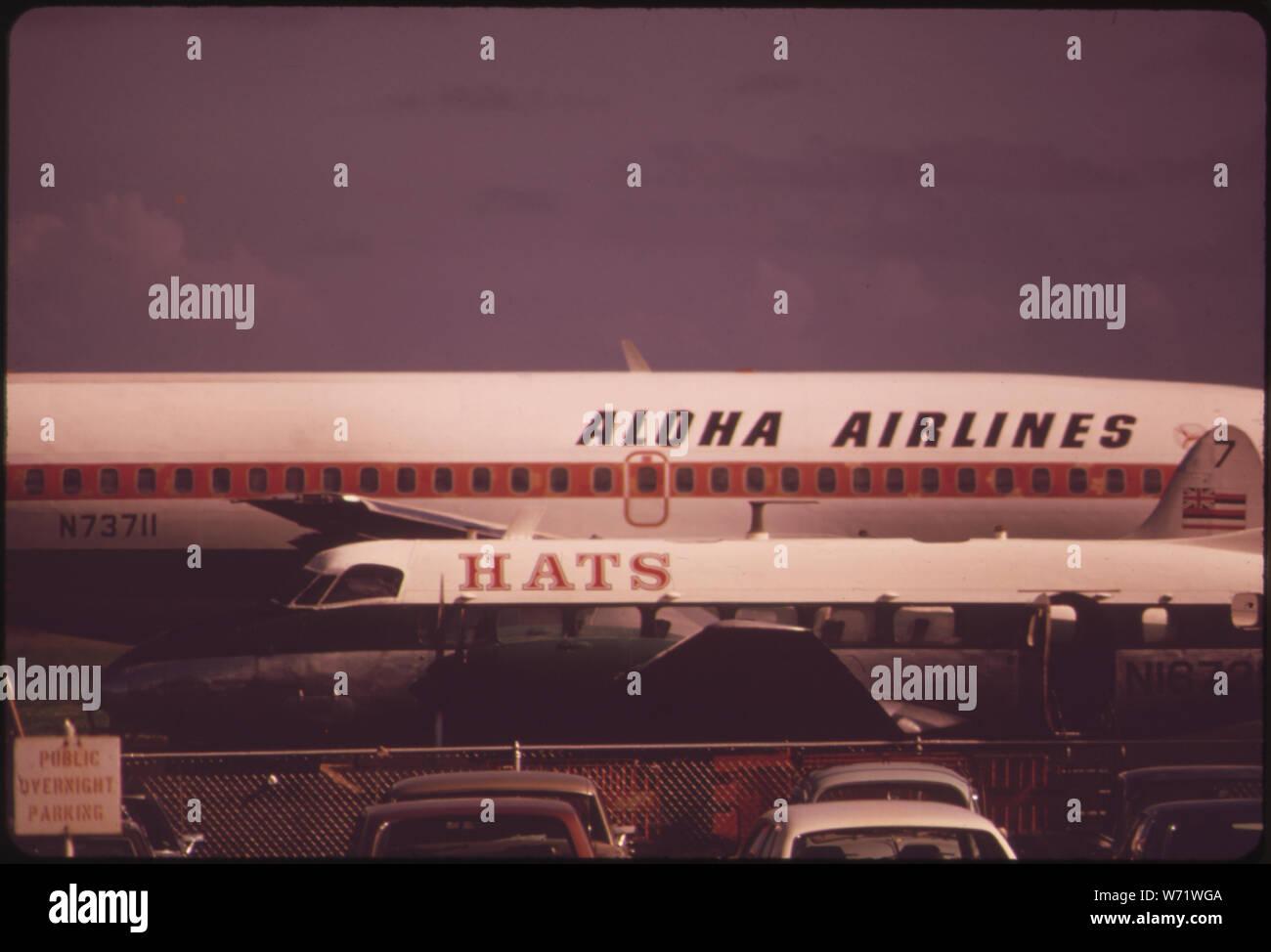 Aloha Airlines dans l'une des deux grandes compagnies aériennes reliant les îles. Pas de route et rapide navire de mer a été élaboré pour les voyages inter-îles. Banque D'Images