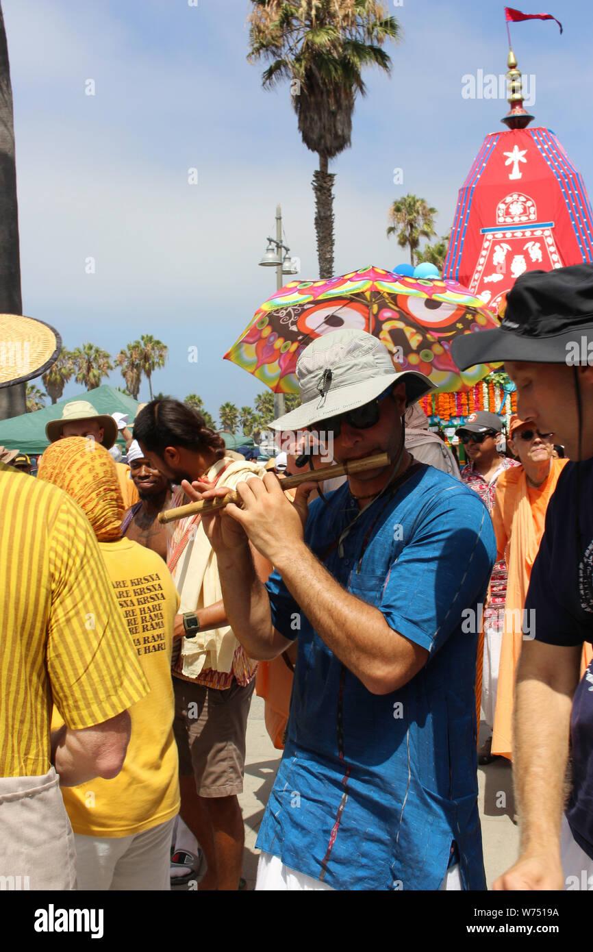 Hare Krishna, Festival des chars, Venise, CA Banque D'Images