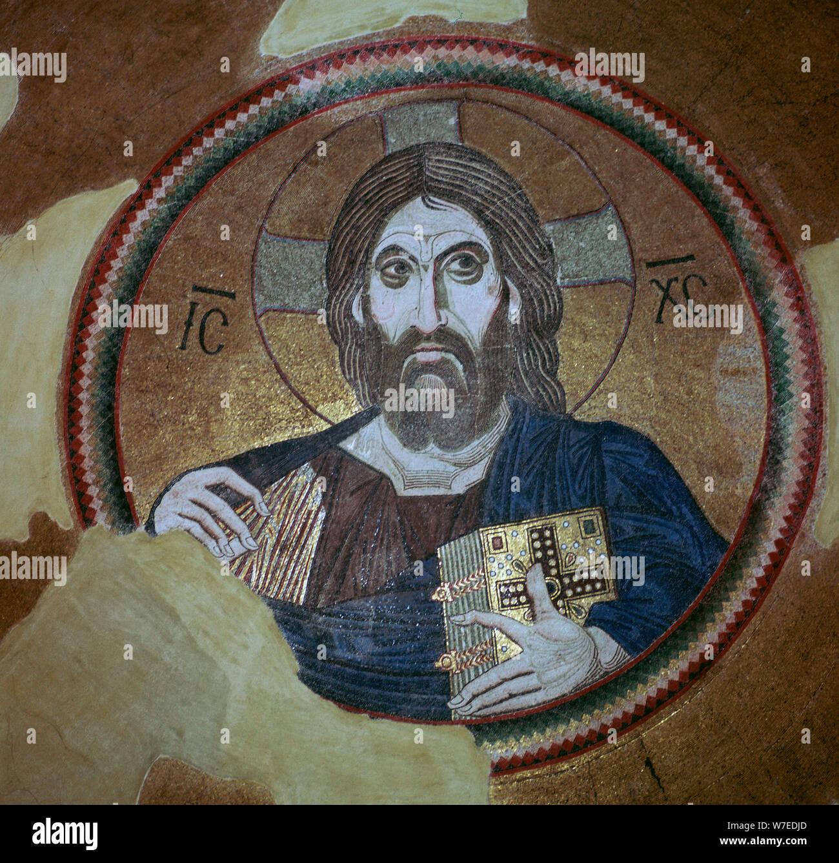 Mosaïque de Christ Pantocrator, 11e siècle. Artiste: Inconnu Banque D'Images