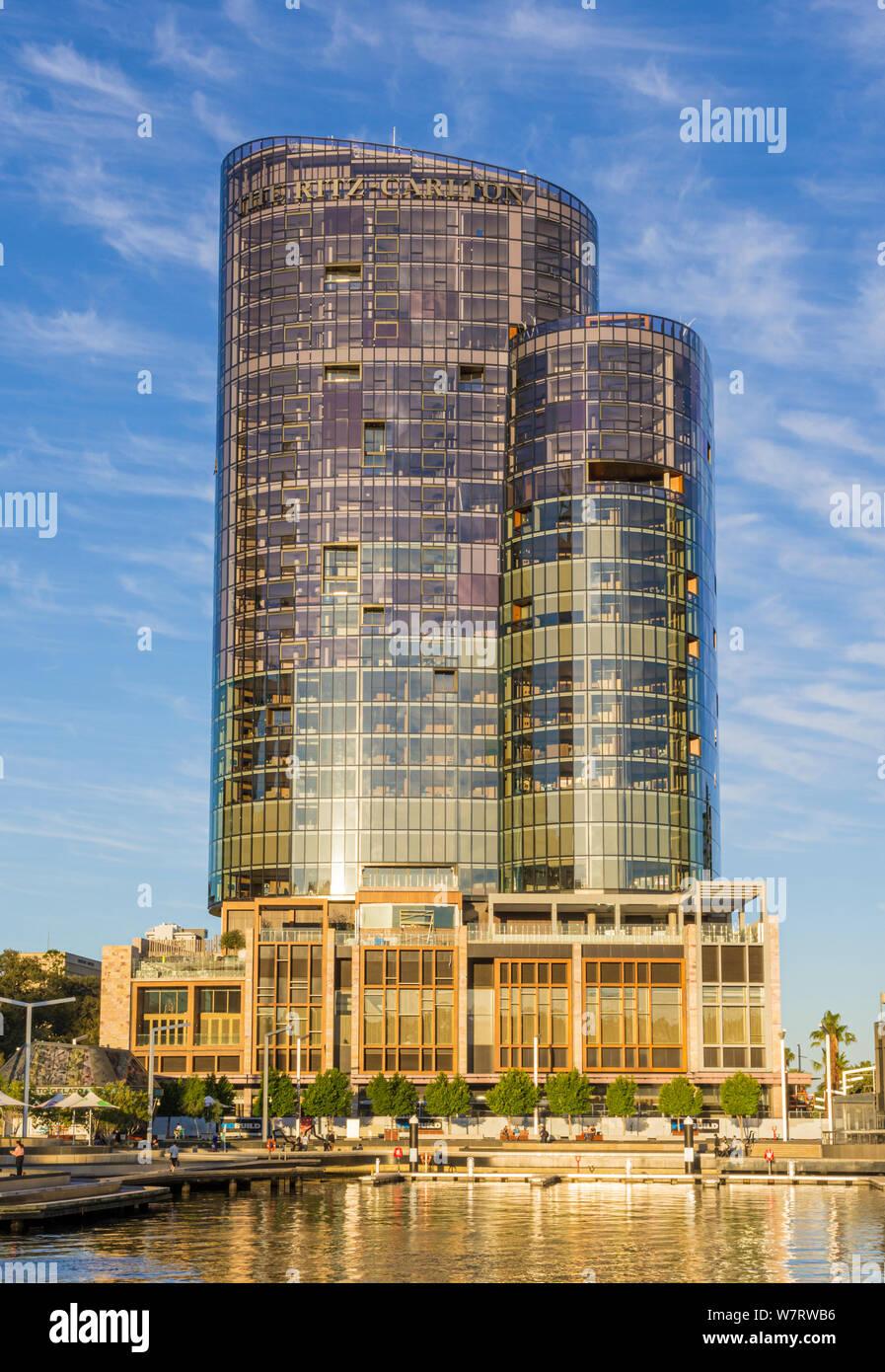 L'hôtel Ritz-Carlton, Elizabeth Street, Perth, Australie occidentale Banque D'Images