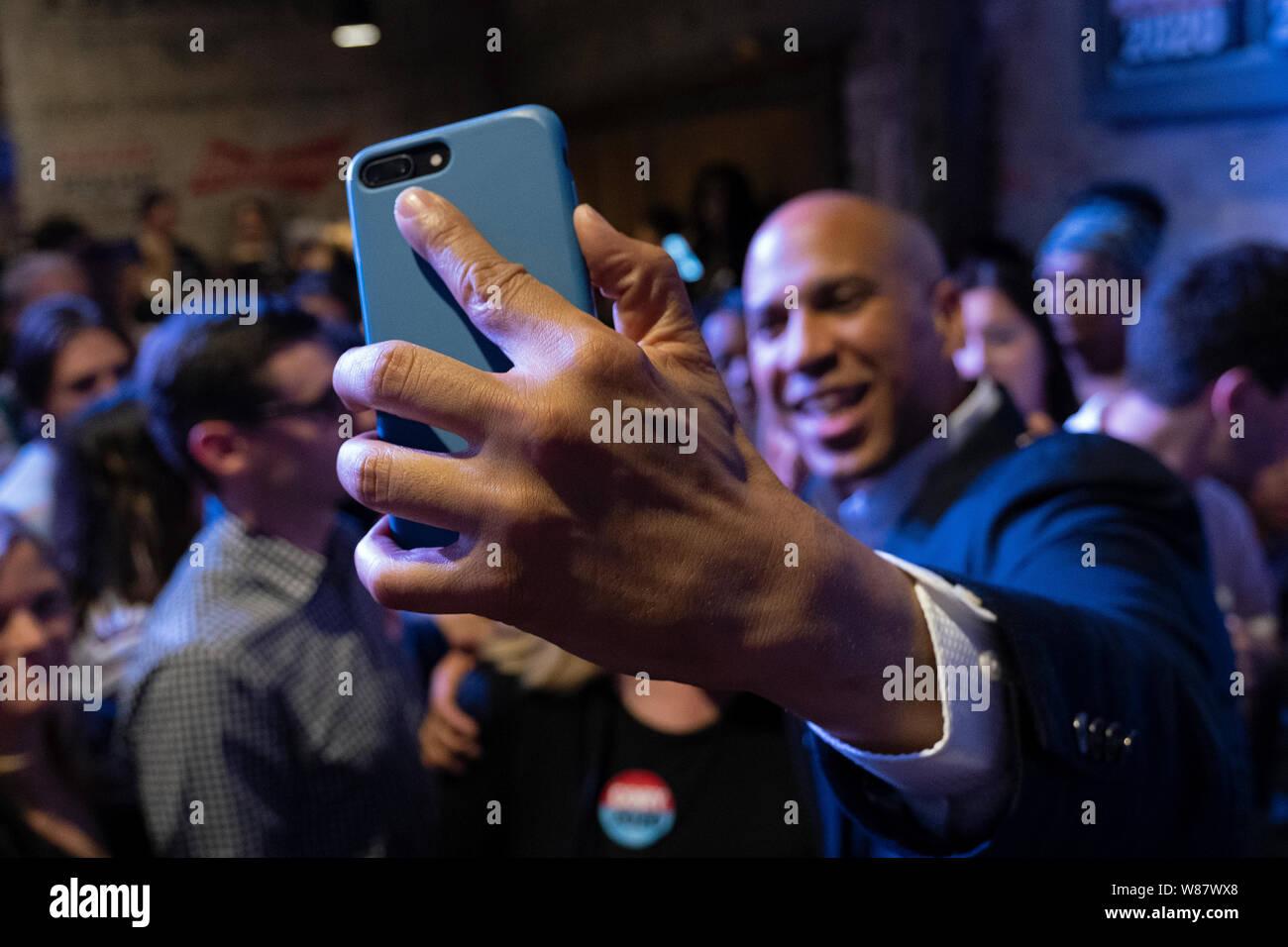 Le candidat démocrate à Cory Booker (D-NJ) apparaît pendant un événement Lieu Philadelphie Philadelphie au Fillmore. Banque D'Images