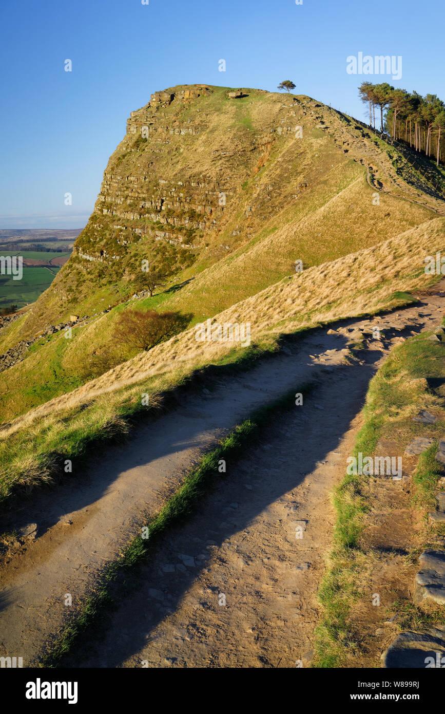 UK,Derbyshire, Peak District,le grand Ridge,retour Tor Banque D'Images