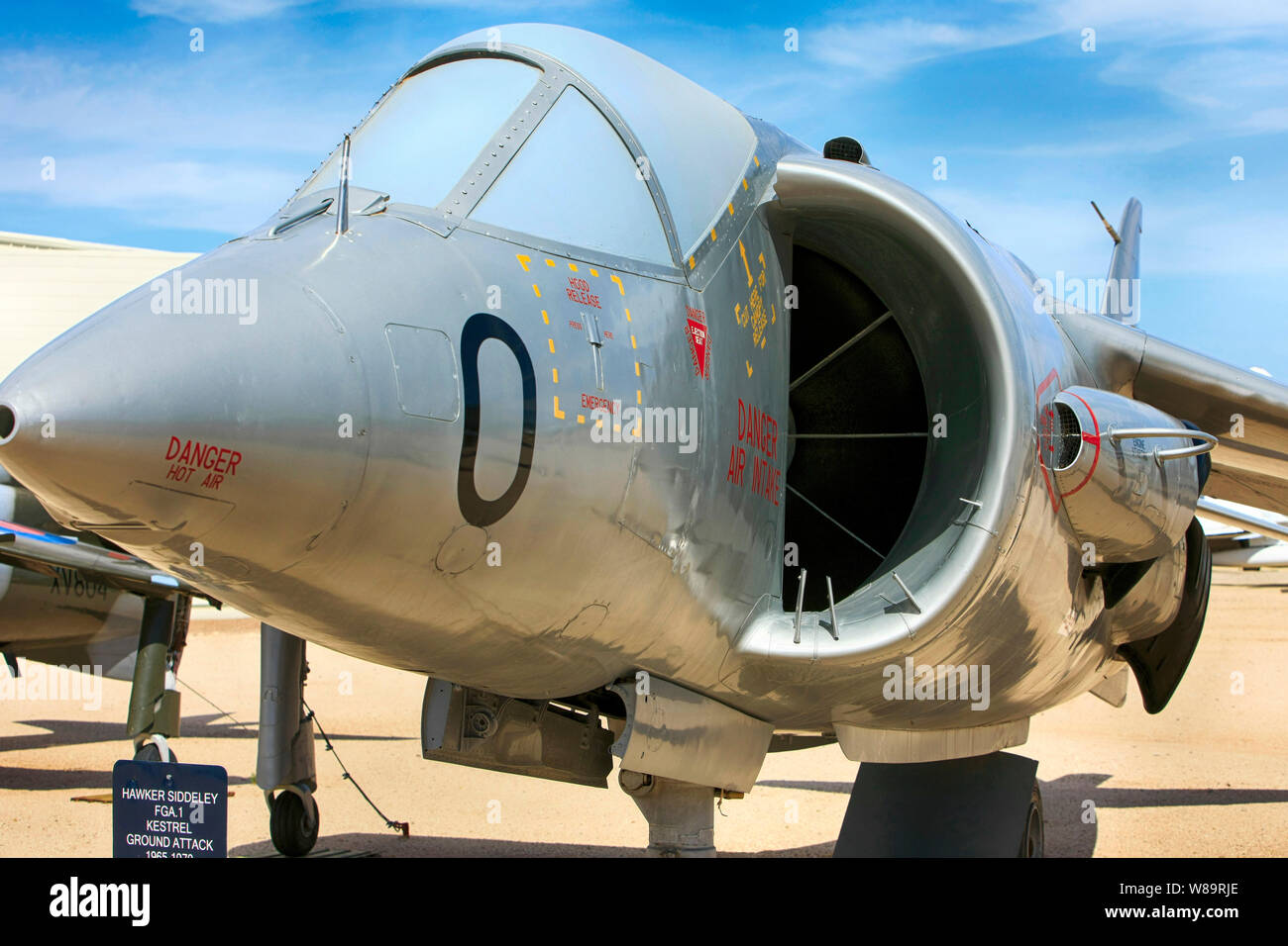 La Hawker Siddeley Kestrel FGA1 Avion de chasse à réaction Banque D'Images