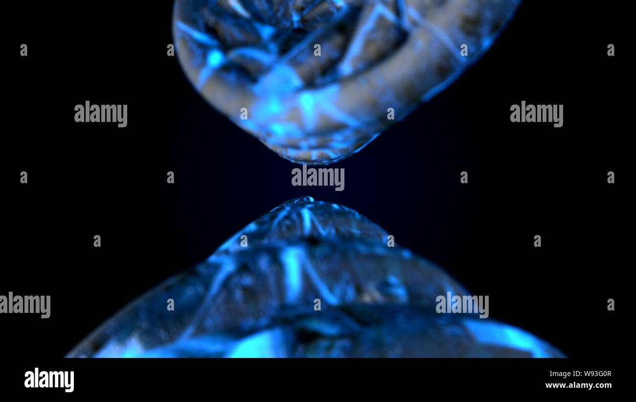 L'ADN. Abstract 3d polygoal wireframe molécules ADN helix spirale. Arrière-plan de la science médicale. Banque D'Images