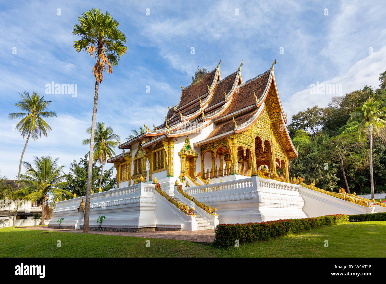 Temple bouddhiste à Luang Prabang, Laos Banque D'Images