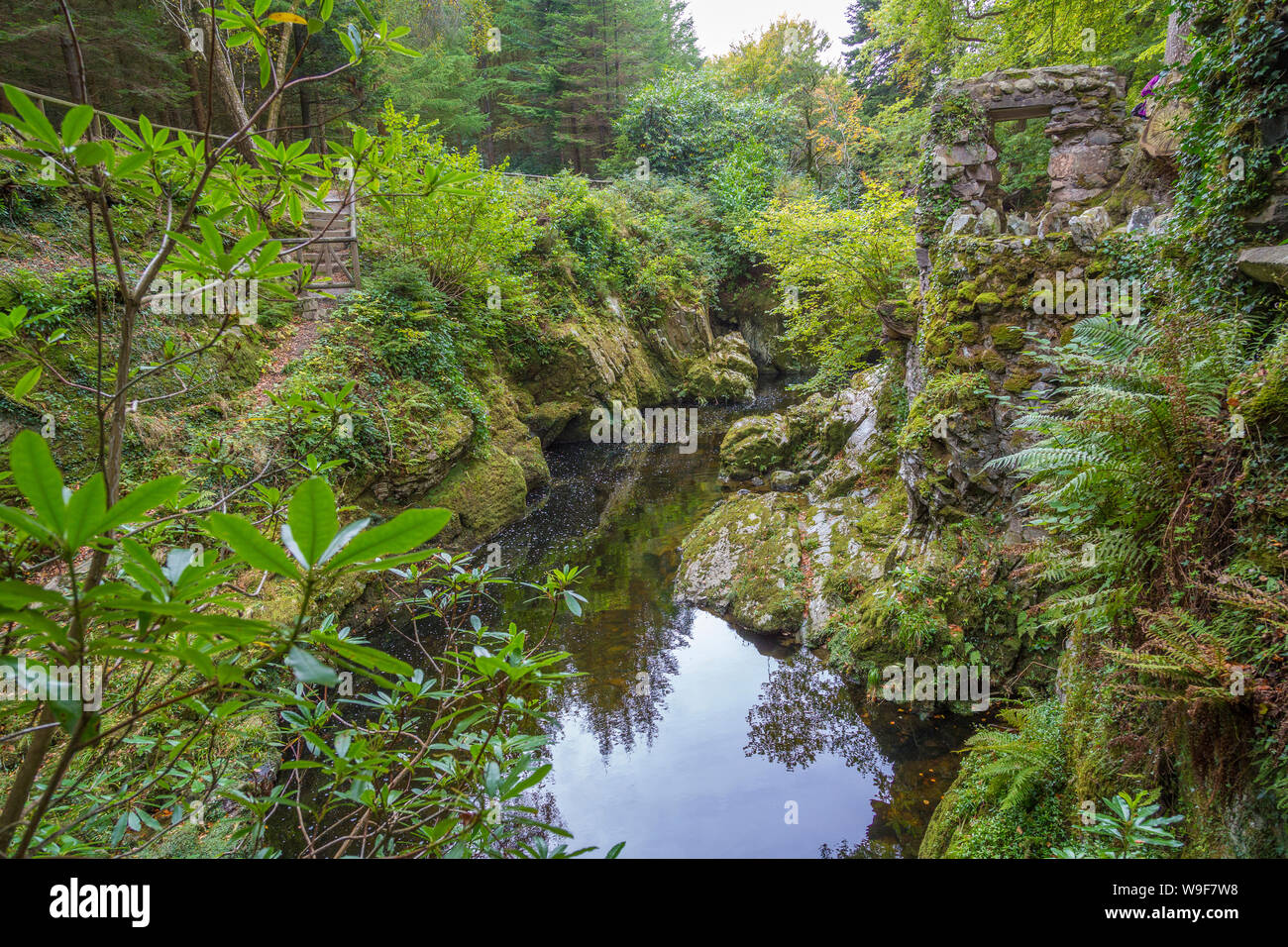 Hermitage à Tollymore Forest Park, Newcastle, Irlande du Nord Banque D'Images