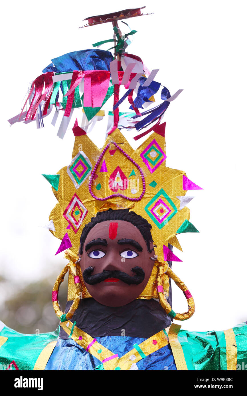 Sculptures de Ravana Dussehra pendant Banque D'Images