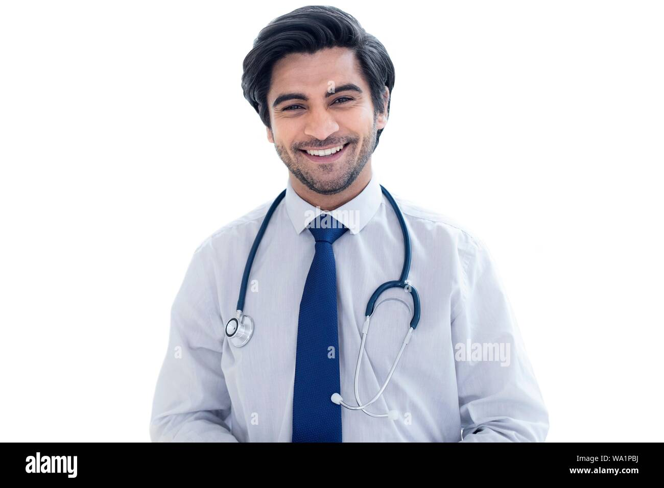Doctor with stethoscope, portrait. Banque D'Images