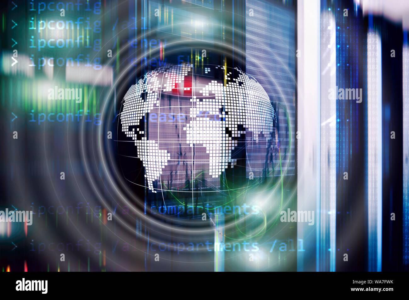 La planète Terre Globe hologramme Global Communication World