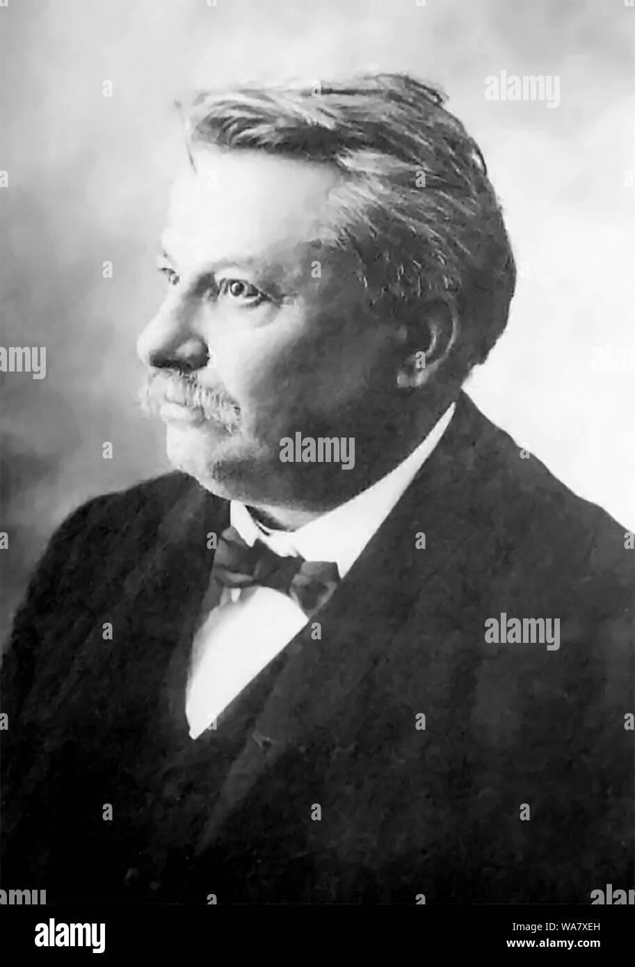 Giovanni Pascoli (1855 Placido Agostino - 1912) poète et érudit Italien Banque D'Images
