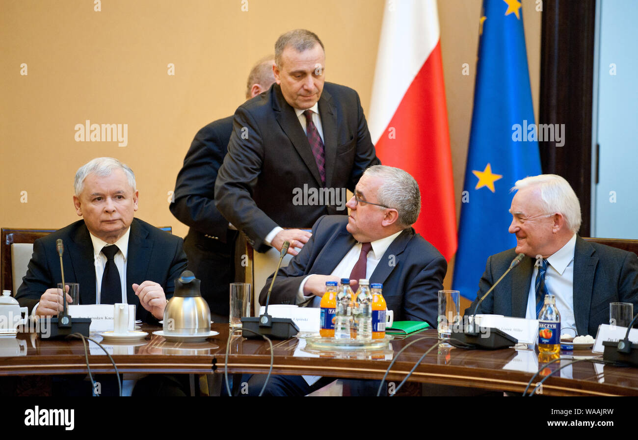 02. 03. 2014 Varsovie, Pologne. Sur la photo : Jaroslaw Kaczynski Banque D'Images
